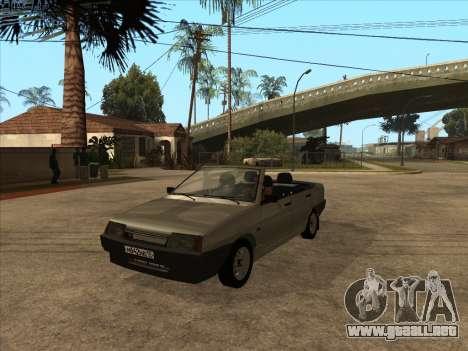 VAZ 21099 Convertible para visión interna GTA San Andreas