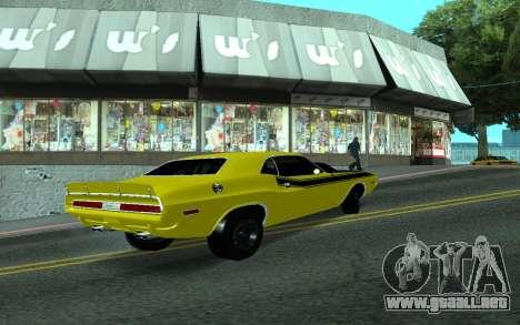 Dodge Challenger Tunable para la visión correcta GTA San Andreas