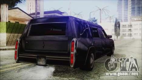 The Romeros Hearse para GTA San Andreas vista posterior izquierda