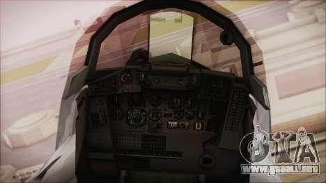 MIG-29 Fulcrum Ukrainian Falcons para la visión correcta GTA San Andreas
