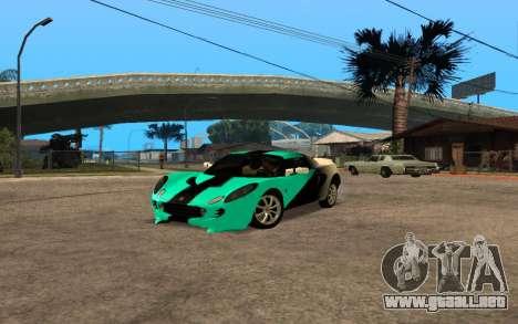Lotus Elise 111s Tunable para GTA San Andreas vista posterior izquierda