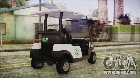 GTA 5 Golf Caddy para GTA San Andreas left