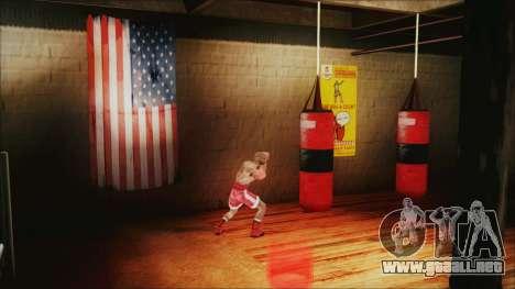 SF Goku Gym para GTA San Andreas sucesivamente de pantalla