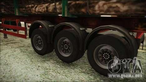 Iveco EuroTech Forest Trailer para GTA San Andreas vista posterior izquierda