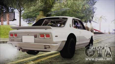 Nissan Skyline GT-R Hakosuka para GTA San Andreas left