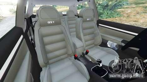 GTA 5 Volkswagen Golf Mk5 GTI 2006 vista lateral derecha