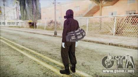 GTA 5 Online The Heist Gasmask White para GTA San Andreas tercera pantalla