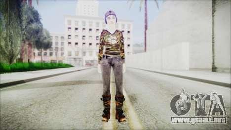 Clementine para GTA San Andreas segunda pantalla