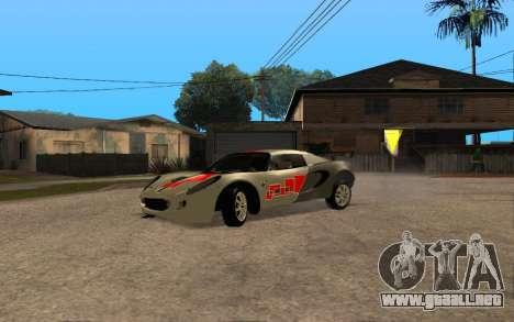 Lotus Elise 111s Tunable para GTA San Andreas vista hacia atrás