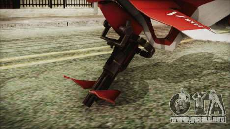 Syndicate Flying Motorcycle para GTA San Andreas vista posterior izquierda