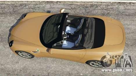 GTA 5 Alfa Romeo 8C Spider 2012 vista trasera