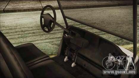 GTA 5 Golf Caddy para GTA San Andreas vista posterior izquierda