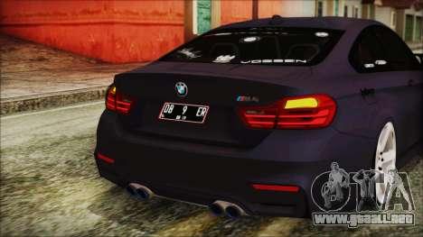 BMW M4 Stance 2014 para vista inferior GTA San Andreas