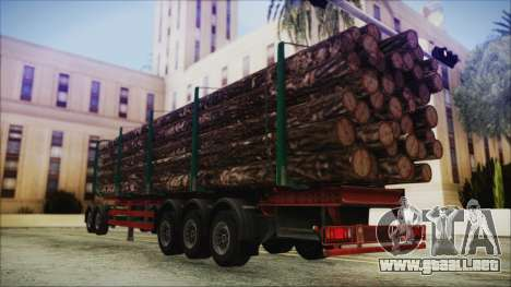Iveco EuroTech Forest Trailer para GTA San Andreas left