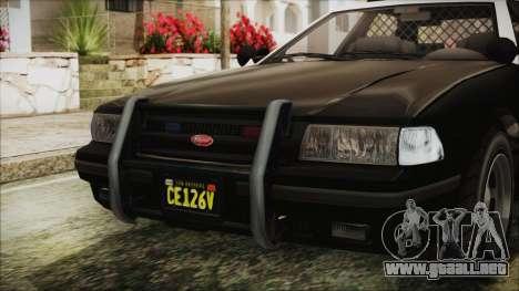 GTA 5 Vapid Stranier II Police Cruiser IVF para visión interna GTA San Andreas