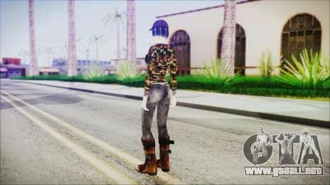 Clementine para GTA San Andreas tercera pantalla