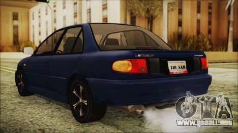Mitsubishi Lancer 1998 para GTA San Andreas left