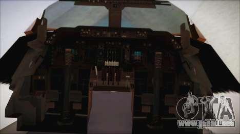 Boeing 747-237Bs Air India Emperor Shahjehan para la visión correcta GTA San Andreas