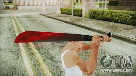 Jason Voorhes Weapon para GTA San Andreas tercera pantalla