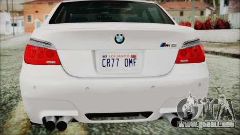 BMW M5 E60 2009 para la vista superior GTA San Andreas
