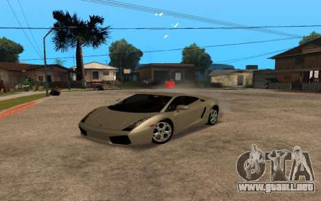 Lamborghini Gallardo Tunable v2 para vista lateral GTA San Andreas