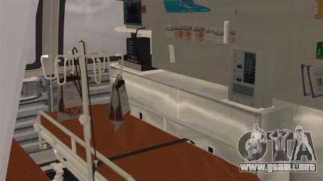 Indonesian PMI Ambulance para GTA San Andreas vista hacia atrás