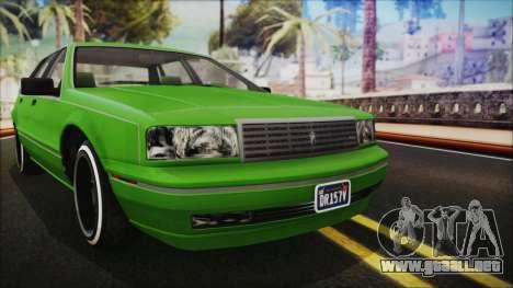 GTA 5 Albany Primo Custom No Interior IVF para la visión correcta GTA San Andreas