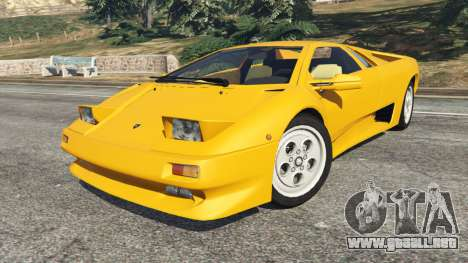 GTA 5 Lamborghini Diablo Viscous Traction 1994 vista lateral derecha