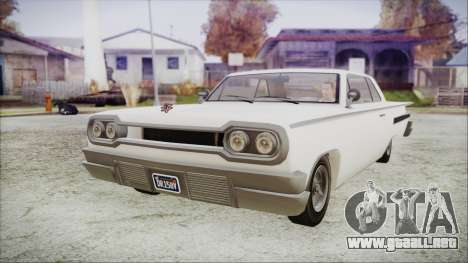 GTA 5 Declasse Clean Voodoo Hydra Version para GTA San Andreas