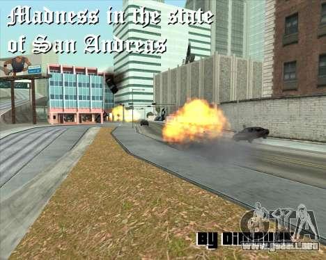 La locura en el estado de San Andreas v1.0 para GTA San Andreas sexta pantalla
