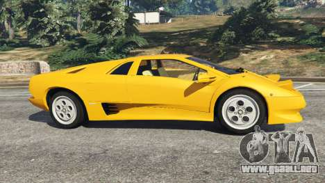 GTA 5 Lamborghini Diablo Viscous Traction 1994 vista lateral izquierda