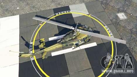 GTA 5 Bell UH-1D Huey Bundeswehr cuarto captura de pantalla