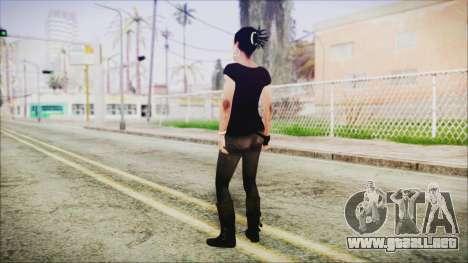 Left 4 Dead Rochelle para GTA San Andreas tercera pantalla