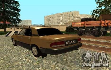 GAS 3110 Volga para GTA San Andreas vista posterior izquierda