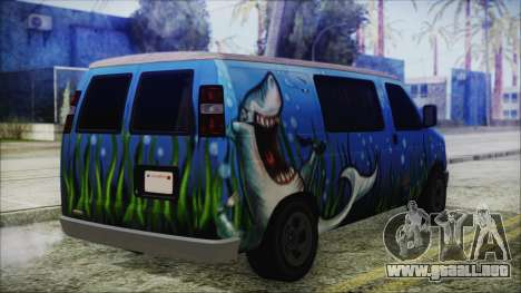 GTA 5 Bravado Paradise Shark Artwork para GTA San Andreas left