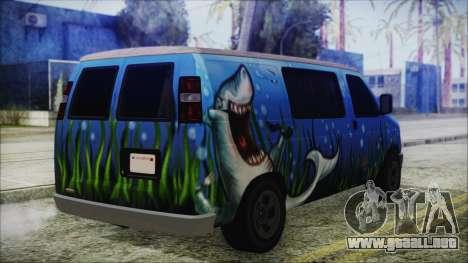 GTA 5 Bravado Paradise Shark Artwork para GTA San Andreas left