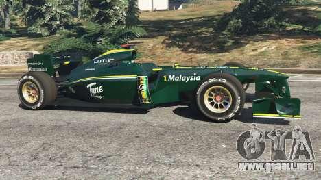 GTA 5 Lotus T127 vista lateral izquierda