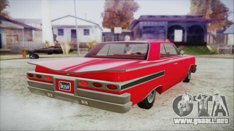 GTA 5 Declasse Clean Voodoo Bobble Version para GTA San Andreas left