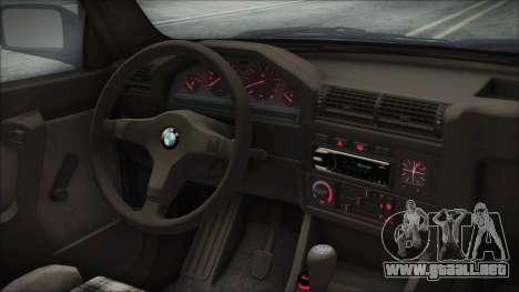 BMW 320i E21 1985 SA Plate para la visión correcta GTA San Andreas