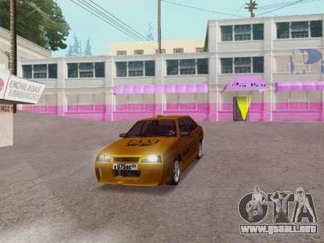 VAZ 21099 Tuning Russian Taxi para la visión correcta GTA San Andreas
