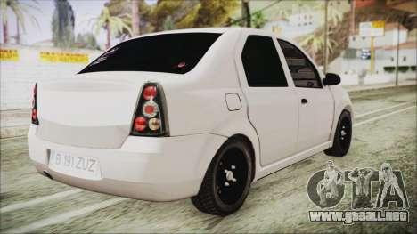 Dacia Logan para GTA San Andreas left