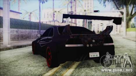 Nissan Skyline R33 Widebody v2.0 para GTA San Andreas left