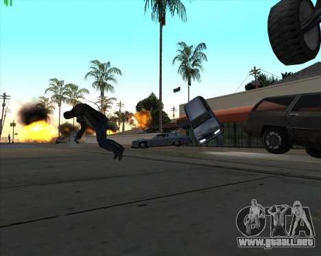La locura en el estado de San Andreas v1.0 para GTA San Andreas sucesivamente de pantalla