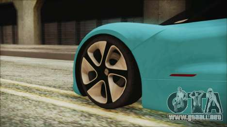 Renault Dezir Concept 2010 v1.0 para GTA San Andreas vista posterior izquierda
