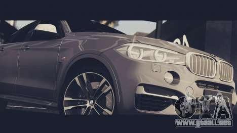 BMW X6M 50D para la visión correcta GTA San Andreas