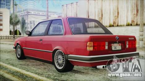 BMW 320i E21 1985 SA Plate para GTA San Andreas left