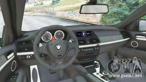 GTA 5 BMW X6 M (E71) v1.5 vista lateral trasera derecha