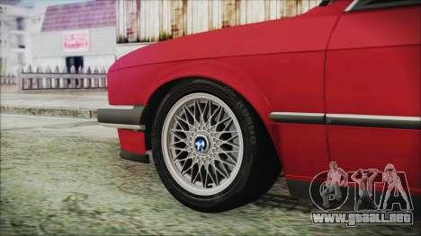 BMW 320i E21 1985 SA Plate para GTA San Andreas vista posterior izquierda