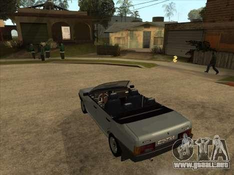 VAZ 21099 Convertible para GTA San Andreas vista posterior izquierda