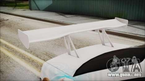 BMW M3 E36 Frozen para GTA San Andreas vista hacia atrás